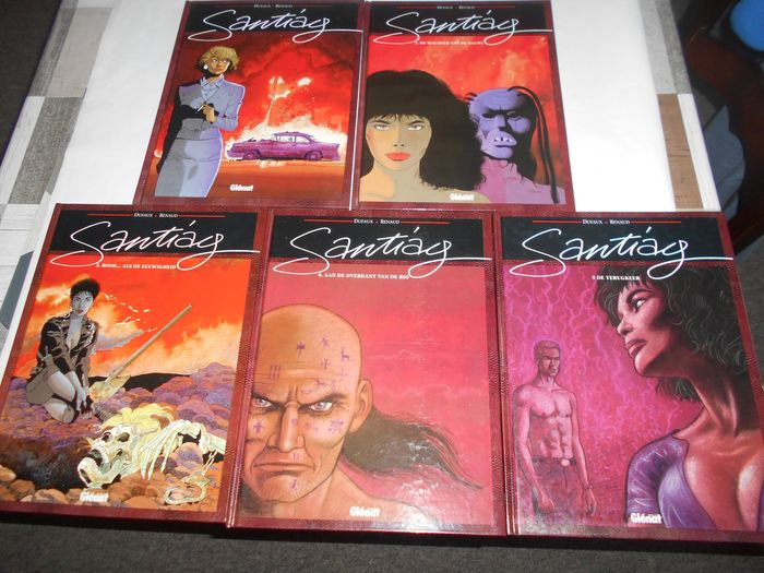 Santiag 1 t/m 5 compleet - 5 x hardcover - First edition - (1991/1996)