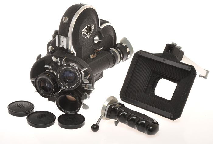 Arnold & Richter , Arriflex 16-ST, 16mm movie camera with 3 lenses and accessories exc+++ c.1960