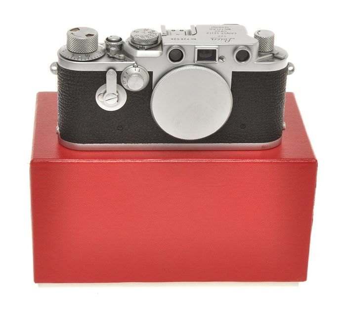 """Leitz Leica IIIF Self Timer n.726526 only body c.1954, exc+++ condition, it """"works"""""""