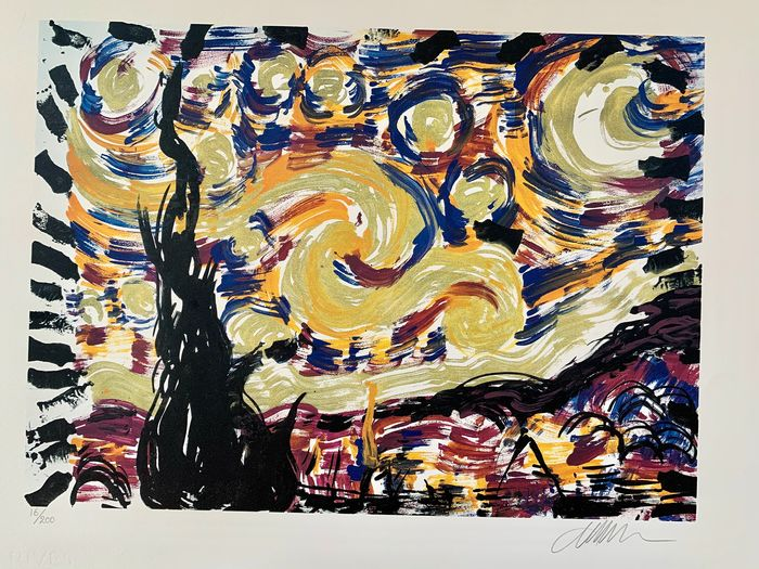 Arman  - Starry Night - Homage to Vincent Van Gogh