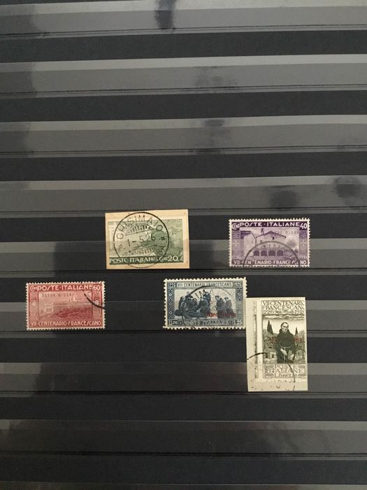 Italy - Italian Colonies - Lot with stamps and letters