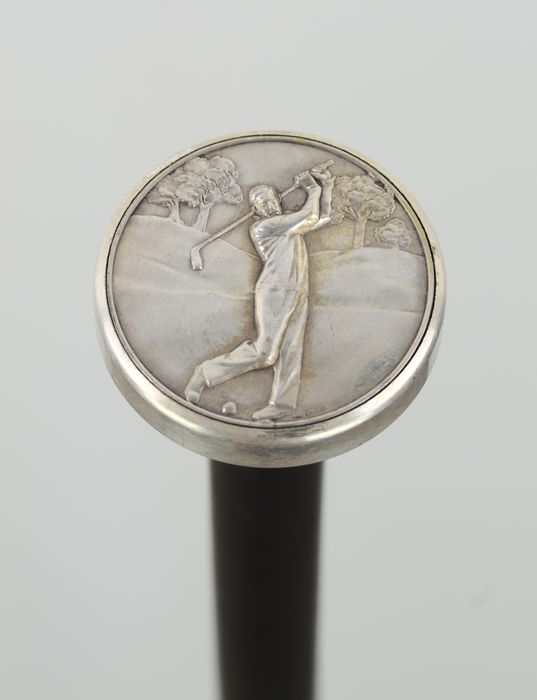 Walking stick - Beech, Silver plated - Early 20th century
