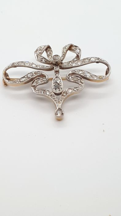 18 kt. Gold - Brooch Diamond