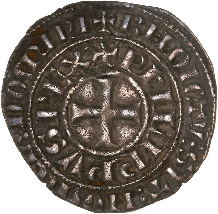 France - Philippe IV (1285-1314) - Maille tierce à l'O rond - Silver