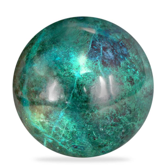 Vivid Color Top Quality Chrysocolla Sphere - 75×75×75 mm - 810 g
