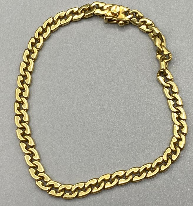 18 kt. Yellow gold - Solid bracelet