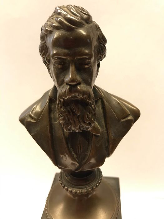 Sculpture, Bust of Amilcare Ponchielli (1) - Brass - Early 20th century