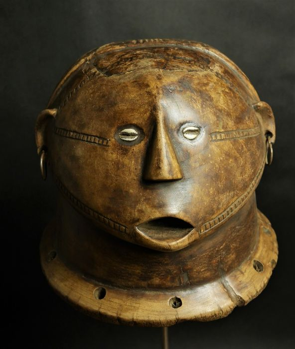 Authentic Helmetmask - Wood - Musangwe - Tabwa - DR Congo