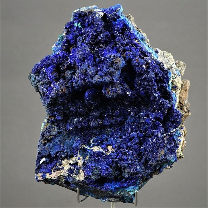 Azurite Crystal on matrix - 12.2×9.5×5.7 cm - 468 g - (1)