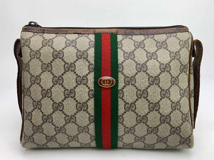 Gucci - OLD GUCCI SHELLY -Beige GG  Pouch/Second bag