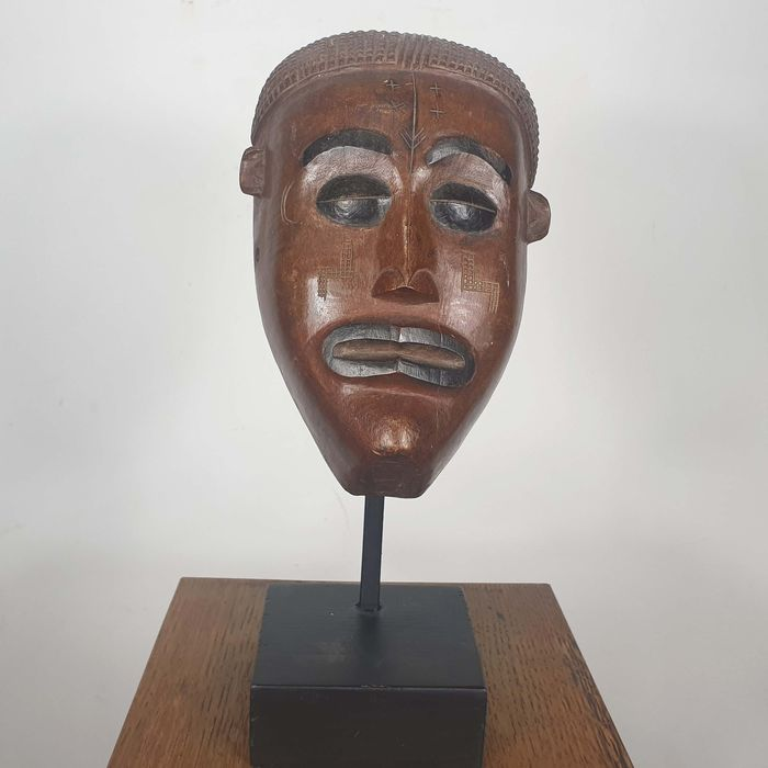 Masker - Hout - Ancienne collection Robert Lemariey (France, Paris) - Chokwe - Angola