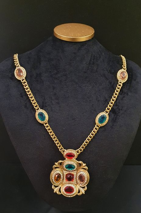 CACHAREL Gold coloured crystal - Moghul Necklace