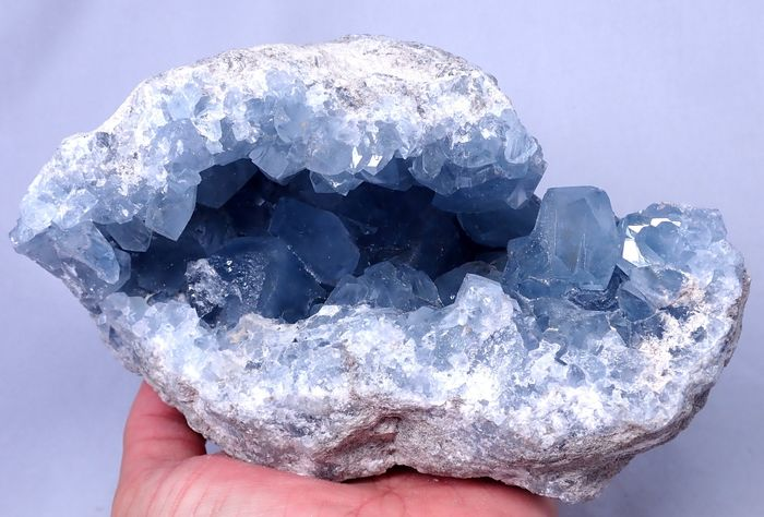 Beautiful Natural Celestite Geode - 170×120×120 mm - 3173 g