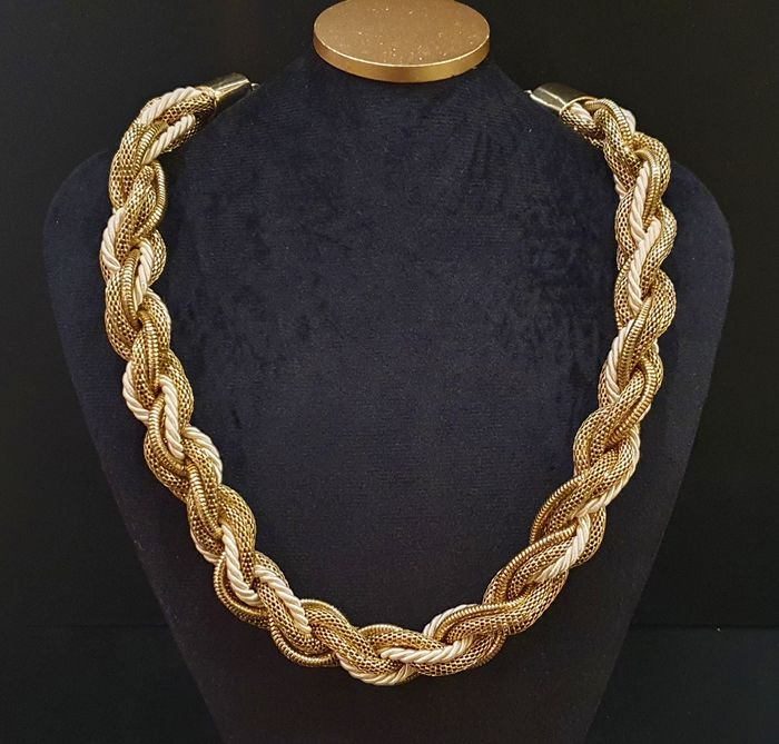 WHITING&DAVIS gold coloured mesh - Necklace