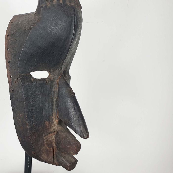 Mask - Wood - Ancienne collection Robert Lemariey (France, Paris) - Dan - Liberia