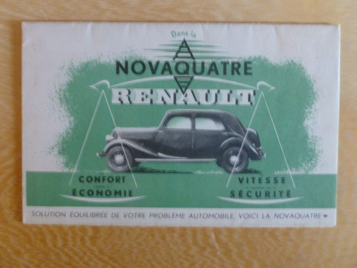Brochures / catalogues - Great 1930's 16 page Renault Novaquatre sales brochure - Renault - 1930-1940