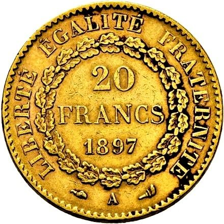 20 Francs 1897-A Genius - Or