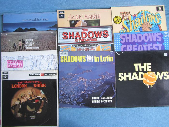 Shadows, Marvin, Welch and Farrar / Brian Bennet - Multiple artists - 10 LP Albums - Multiple titles - LP's - 1965/1977