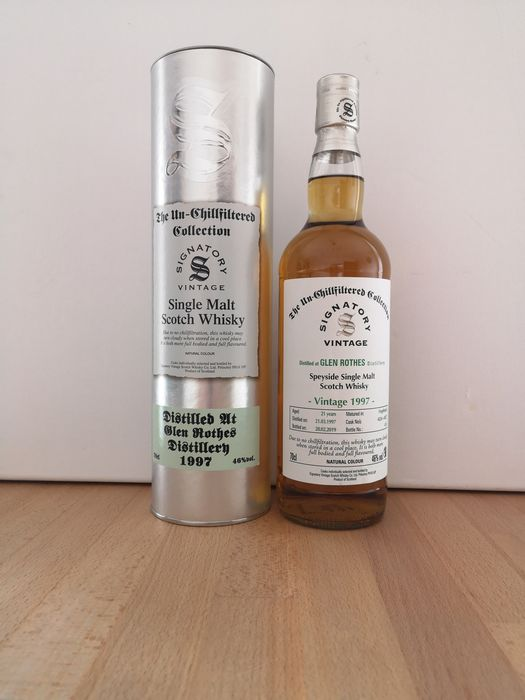 Glenrothes 1997 21 years old The Un-Chillfiltered Cask 4826 + 4827 - Signatory Vintage - b. 2019 - 70cl