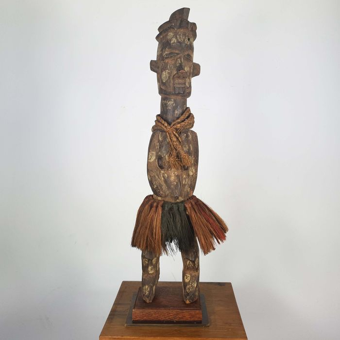 Statue(s) - Wood - Ancienne collection Robert Lemariey (France, Paris) - Yaka - Congo