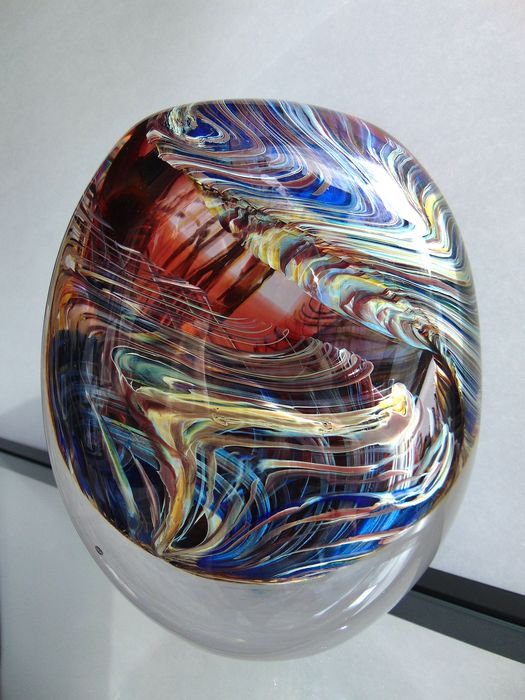 Maxence Parot - Solid single vase Transparency Movements