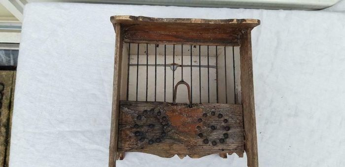 Antique French Finch Cage (1) - Wood - Late 19th century
