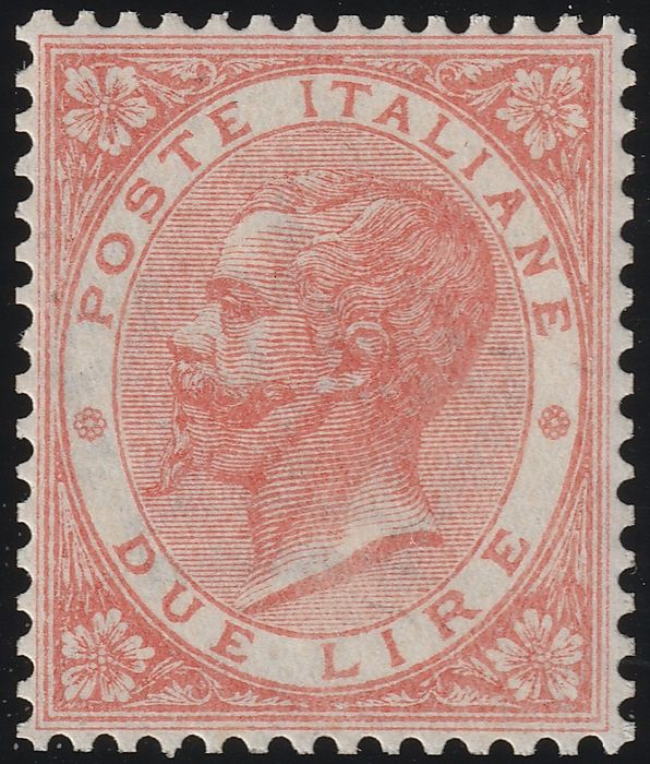 Königreich Italien 1863 - De La Rue 2 lire, London issue, very centred, intact, 2 certified. - Sassone N. L22