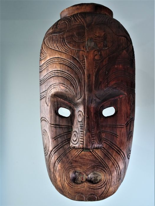 Mask (1) - Wood - Maori - New Zealand