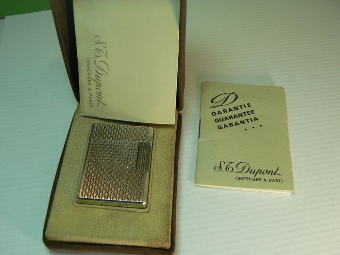 Dupont ligne 1 - Plaqué or - Pocket lighter - Complete collection