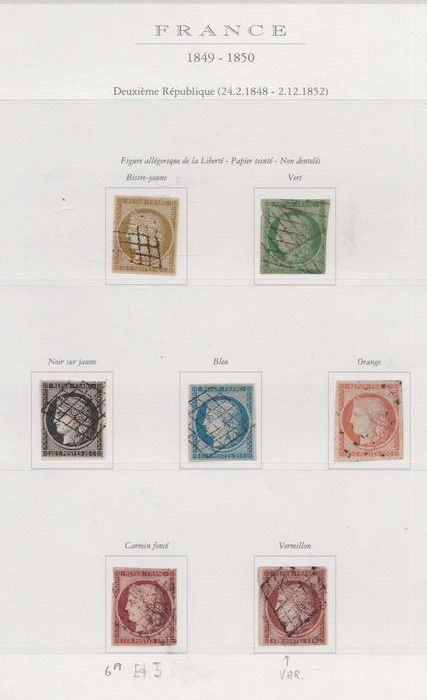 Frankreich 1849/1914 - Elaborate and almost complete collection with extras