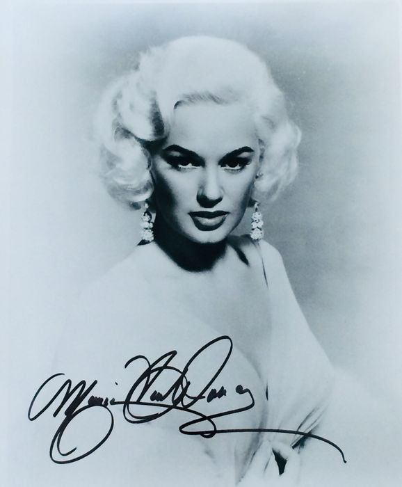 Mamie Van Doren - Autograph, Photogrph, Signed with COA