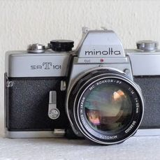 Minolta SRT 101 met MC Rokkor-PF 58mm 1:1.4