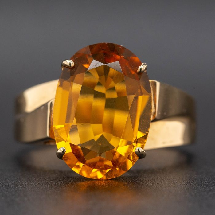 14 kt. Yellow gold, 4.79g - Ring - 3.59 ct Citrine - No Reserve Price