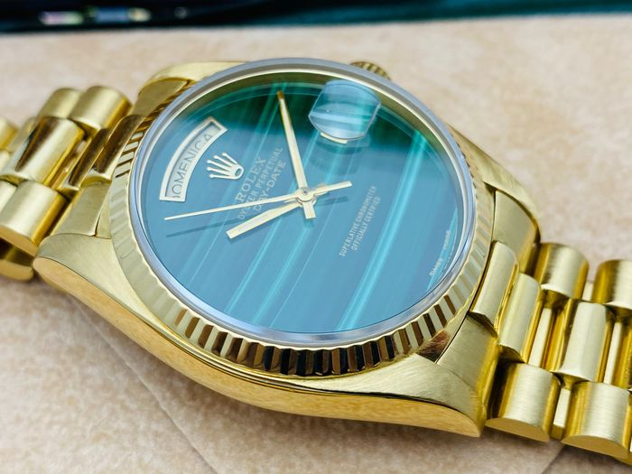 Rolex - Oyster Perpetual Day-Date 'Malachite Dial' - Ref. 18038 - Unisex - 1983