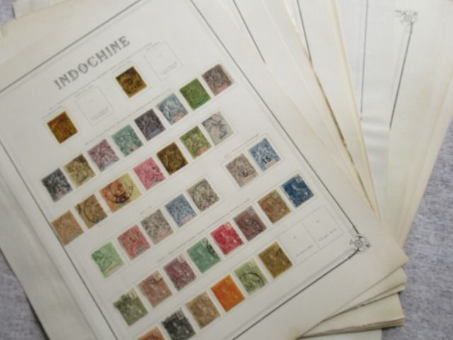 Indochina - Almost complete collection of stamps