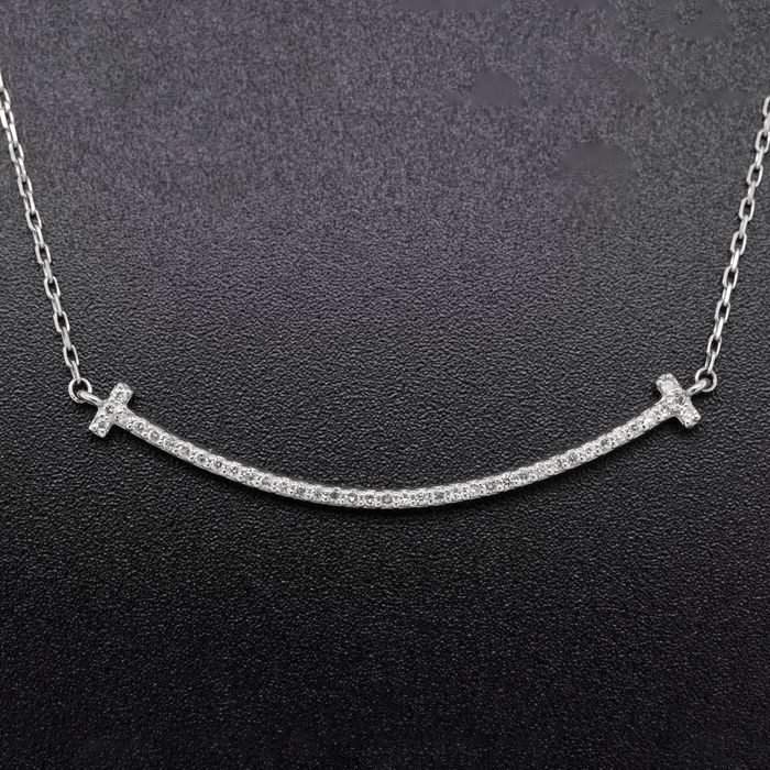 Platinum, 2.89g - Necklace with pendant - 0.16 ct Diamond - No Reserve Price