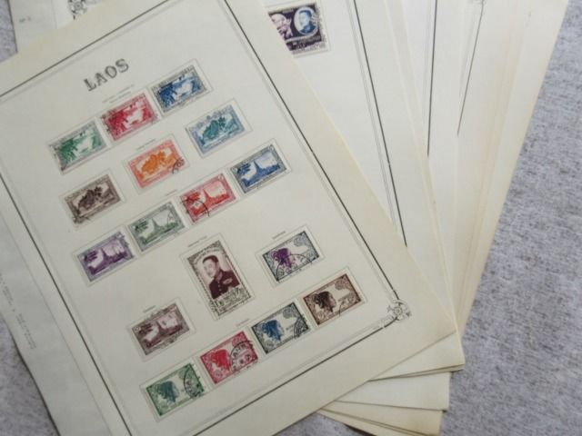 Laos - Almost complete collection of stamps