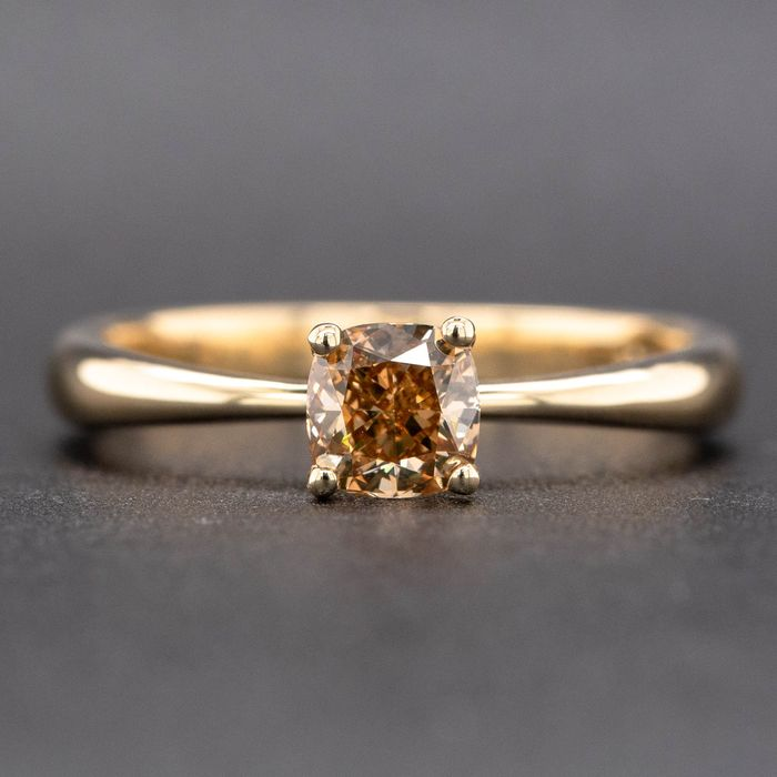 14 kt. Yellow gold, 2.40g - Ring - 0.58 ct Diamond - VVS2 - No Reserve Price