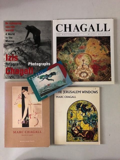 Marc Chagall - Lot with 5 books - 1984/2001