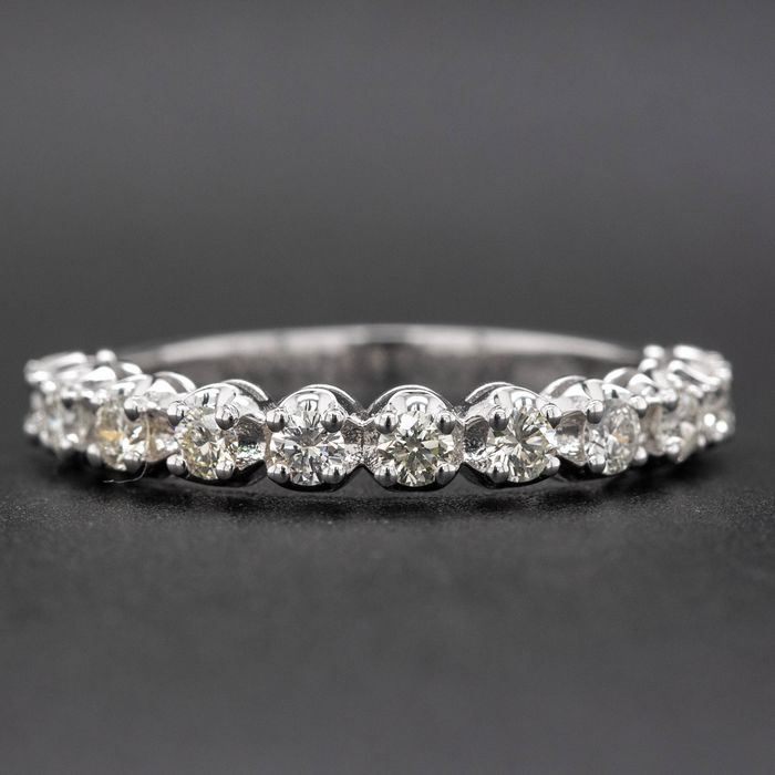 14 kt. White gold, 2.18g - Ring - 0.62 ct Diamond - No Reserve Price