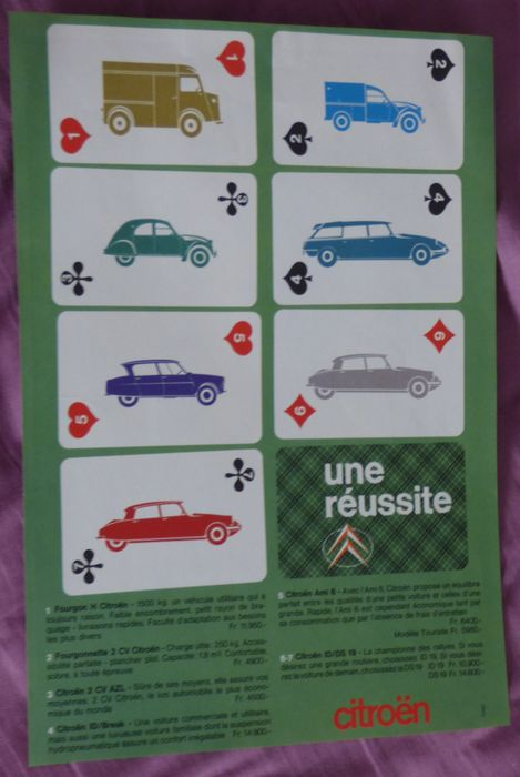 Citroën: Poster and 48 photos 1955 to 1970 - 2CV - Ami 6 - ID / DS - HY / HZ