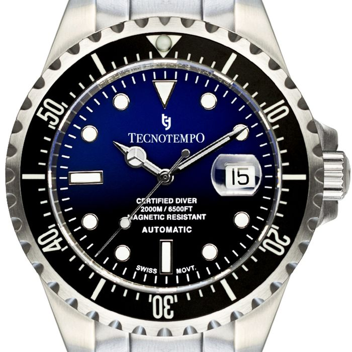"Tecnotempo - - ""NO RESERVE PRICE"" - Diver's 2000M/6500FT- Limited Edition 100PCS - - TT.2000.BN (Blue/Black) - Hombre - 2011 - actualidad"