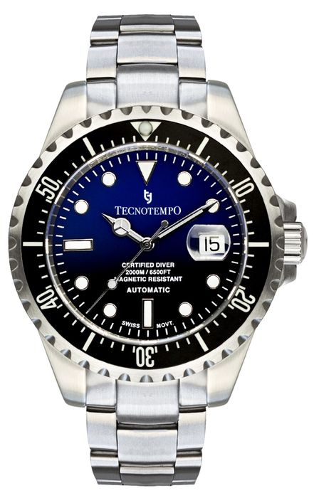 Tecnotempo - Automatic Diver 2000M / 6500FT - Swiss Movement - LIMITED EDITION 100PCS - - TT.2000.BN (Blue/Black) - Men - 2020