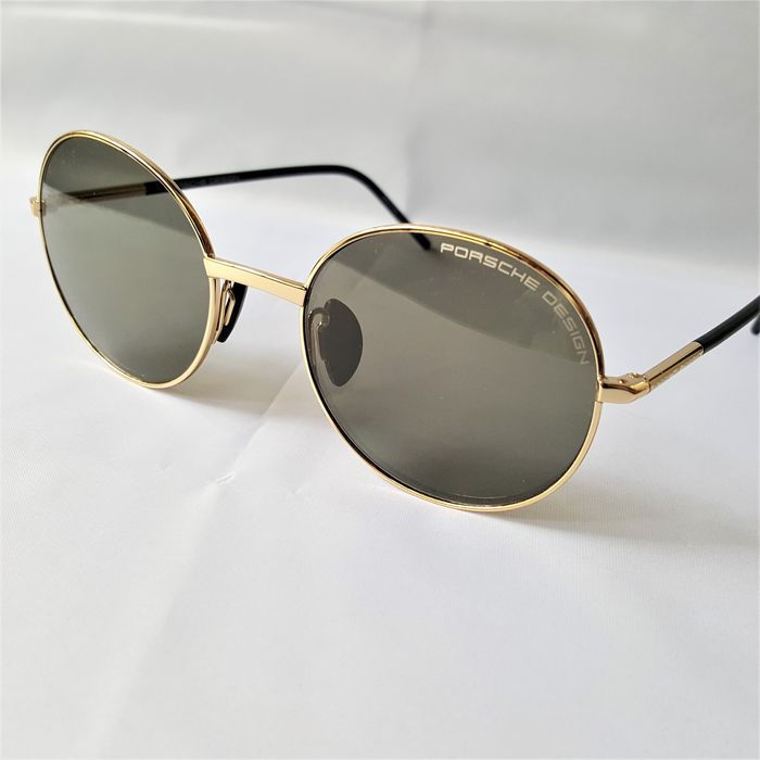 Porsche Design - Round Gold Handmade - 2020 - New - Made in Italy Sunglasses