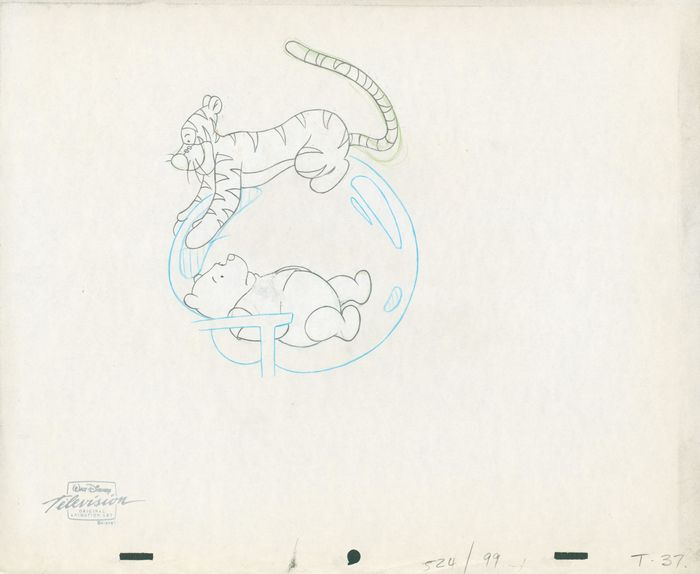 Winnie-the-Pooh - Pooh and Tiger, animation art - First edition - (1997)
