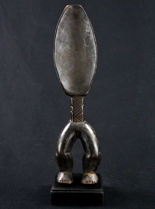 Antique Spoon with Legs on a Base - Wood - Dan - Côte d'Ivoire