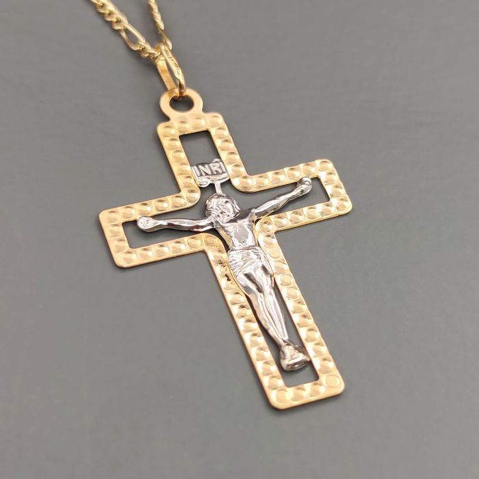 18 kt. White gold, Yellow gold - Necklace with pendant