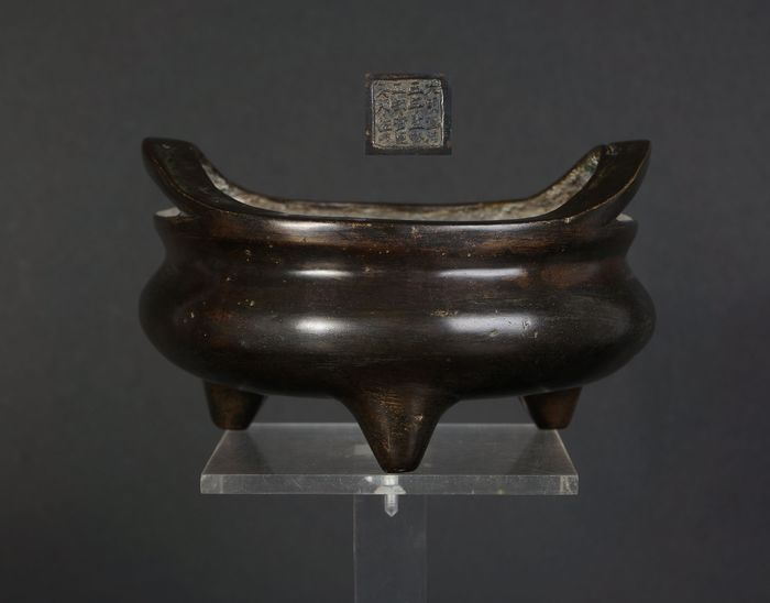 Bronze incense burner (censer) xuande marked, 19th century (1) - Bronze - China - 19th century