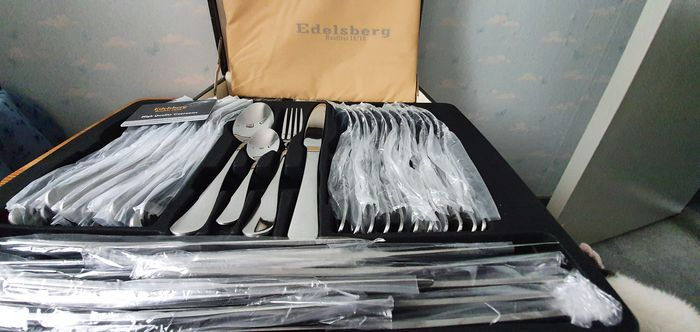 Edelsberg - 12 person NEW luxury cutlery in suitcase with warranty card