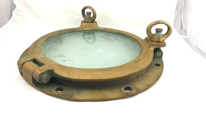 Porthole - Brass, Glass - Late 19th century